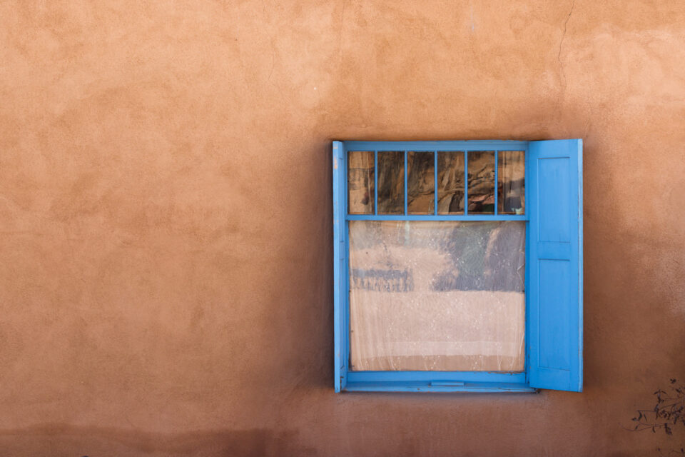 Blue and Tan Window
