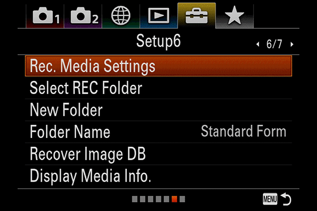 Sony A7R III Menu Settings