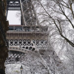 Abstract Photo of Eiffel Tower with Snow