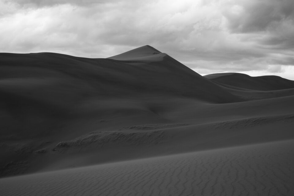Black and White Sand Dunes Photo