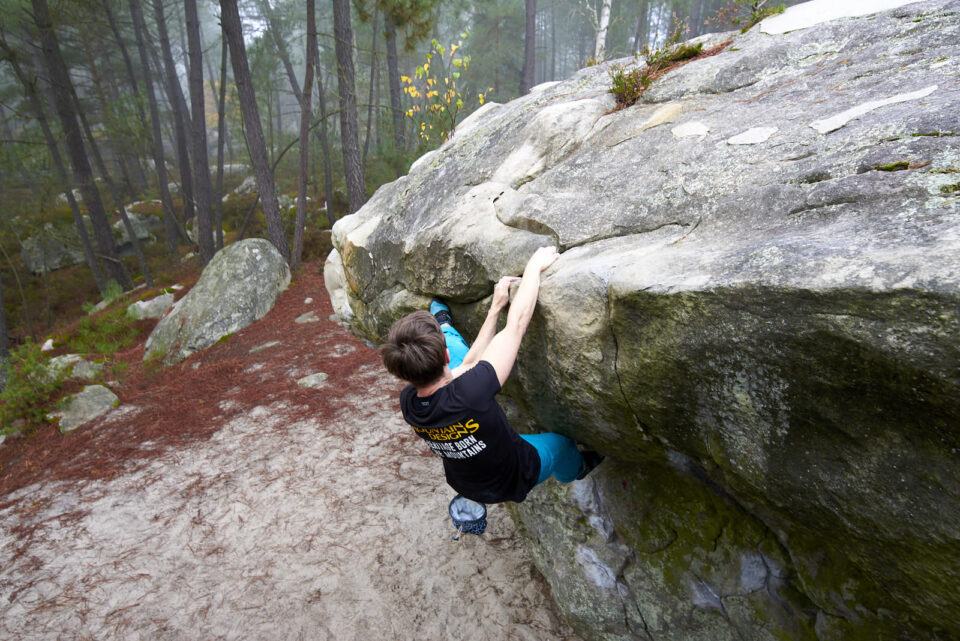 Bouldering in a Forest
