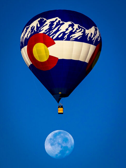 Colorado Balloon over Moon