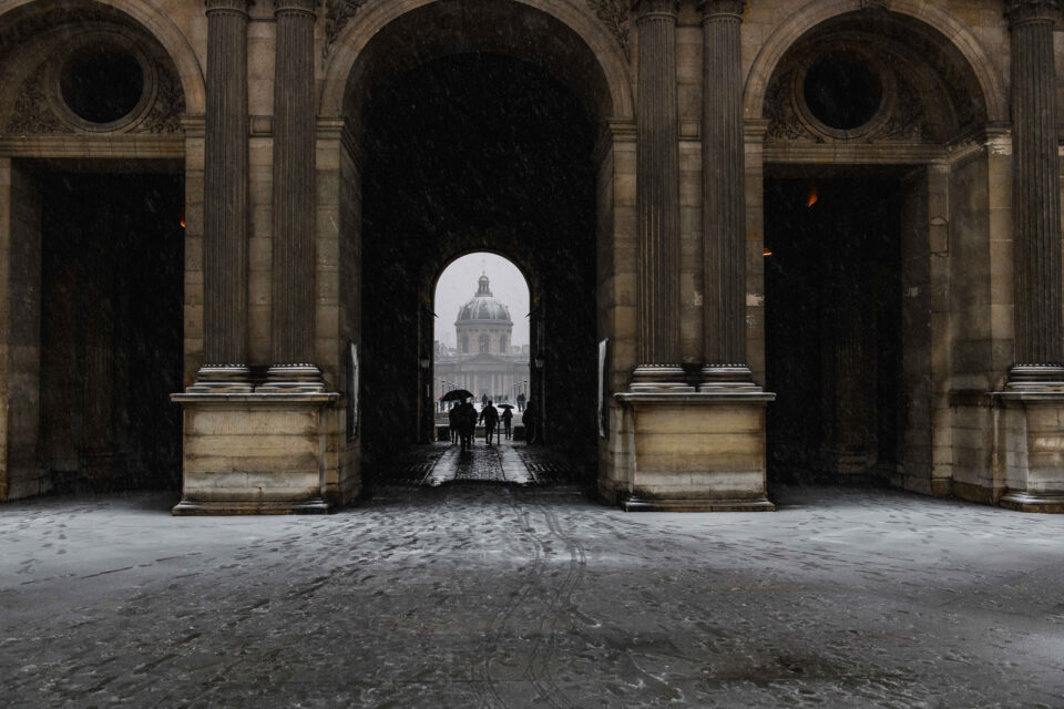 Falling Snow in Paris