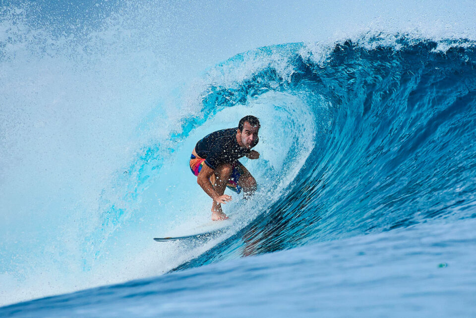 Surfing in Indonesia Waves