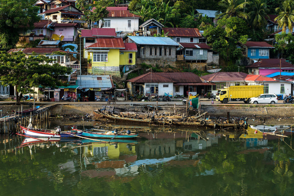 Houses along Indonesian Coast