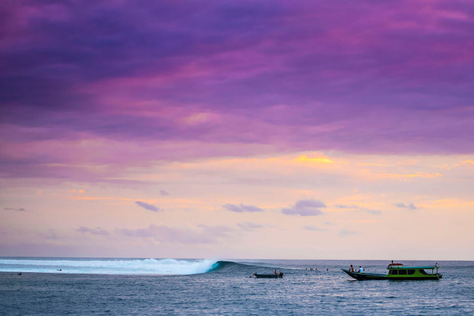 Sunset in Indonesia Mentawai Islands