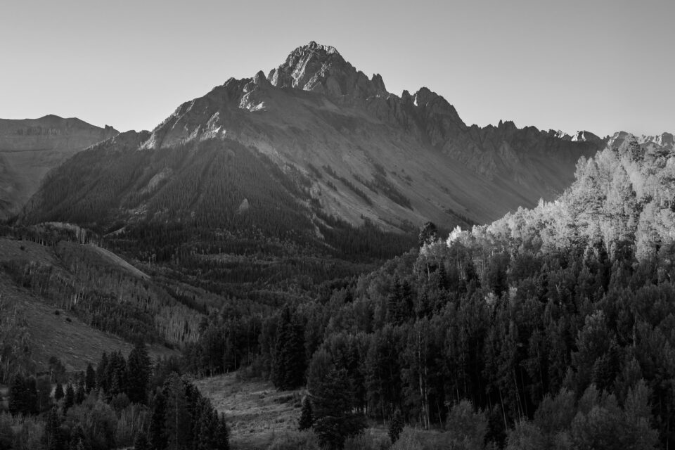 Telephoto Mountain Landscape