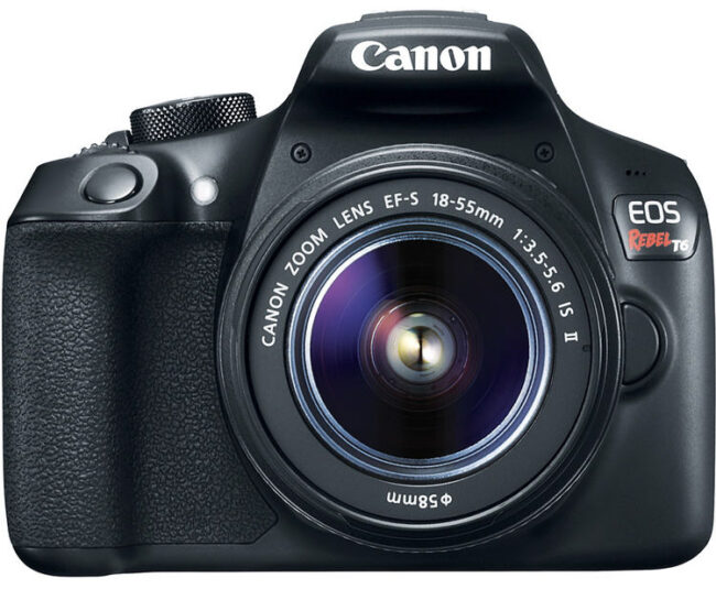 The Canon Rebel T6 is one of the Nikon D3500's competitors, mainly because of price.