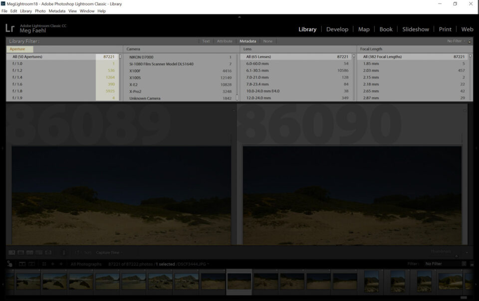 Lightroom Metadata Toolbar Example