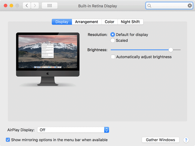 iMac Pro Changed Brightness After Reboot