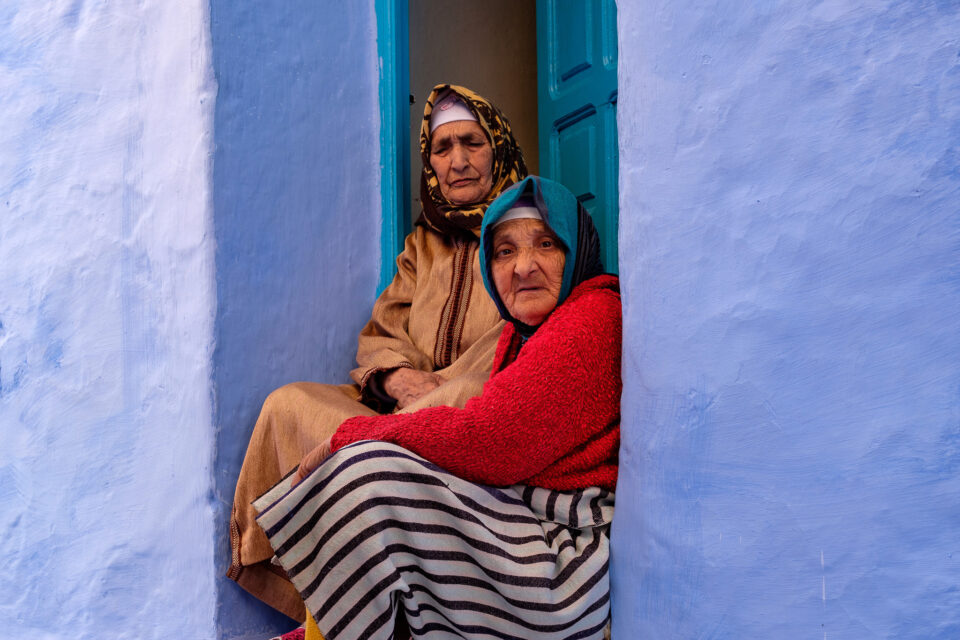 Moroccan Old Women in Chefchaouen