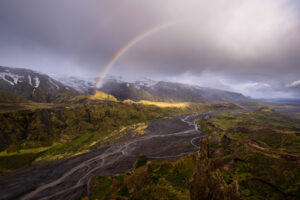 Rainbow in Thorsmork Iceland