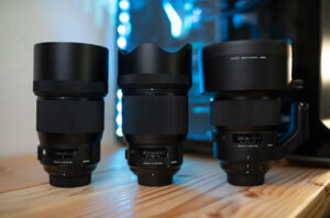 Sigma 85mm vs 105mm vs 135mm with Hoods