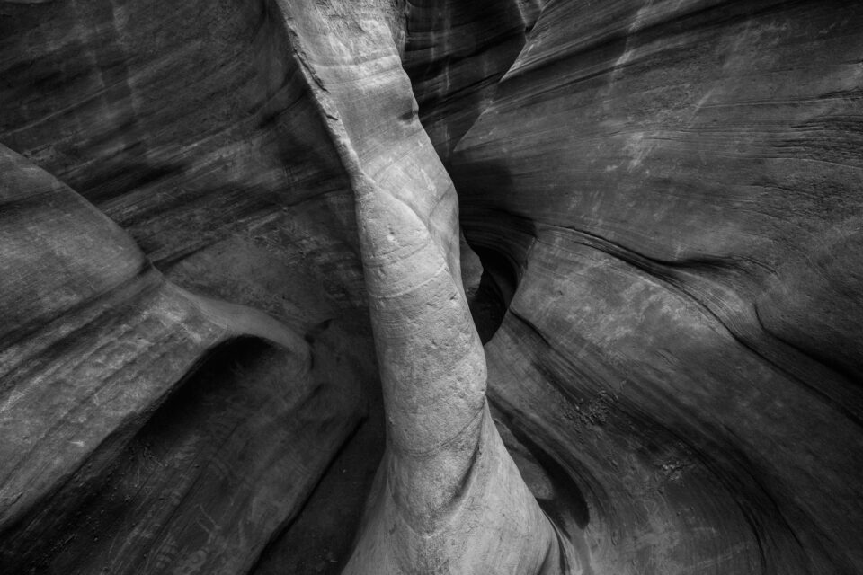 Slot Canyon Monochrome