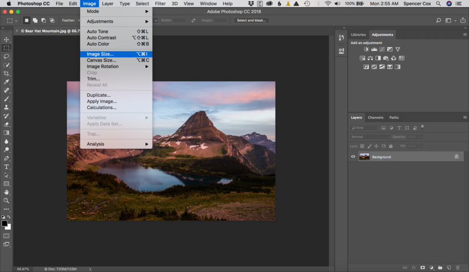 Upsize Image in Photoshop Screenshot 2