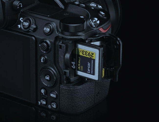 XQD Card Slot in Nikon Z6 and Z7