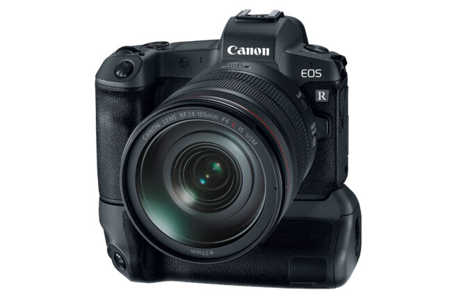 Canon EOS R Front with Grip