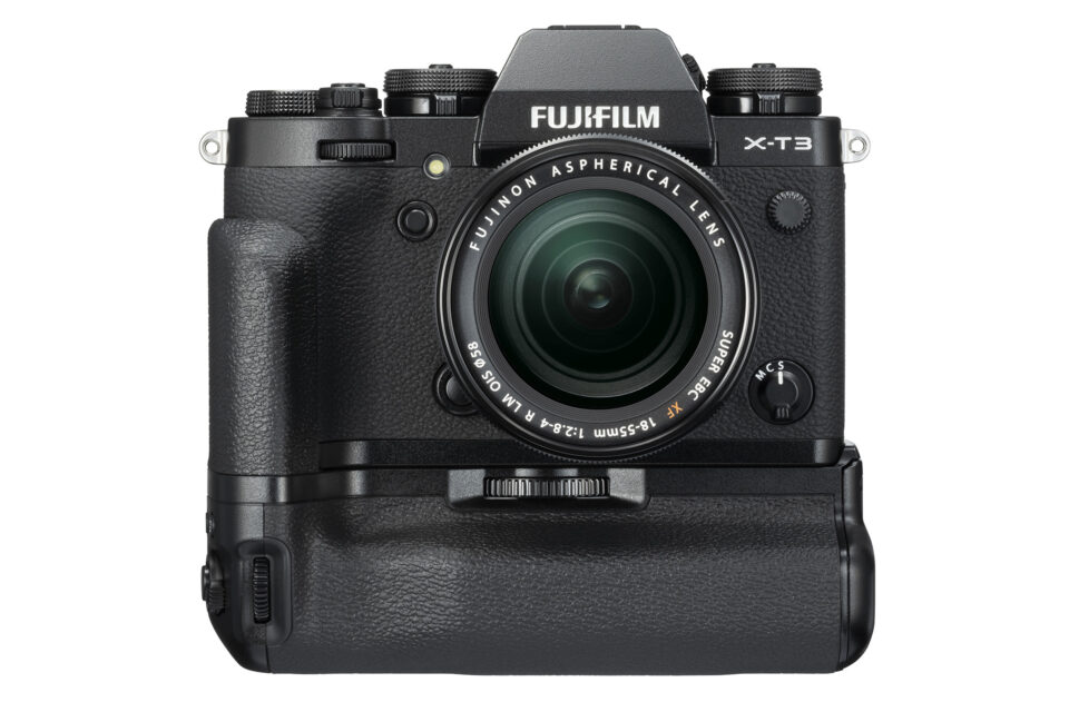 Fuji X-T3 Front with Battery Grip