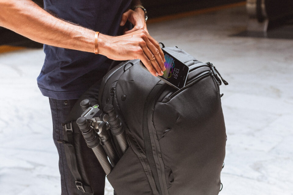 Zippered Compartments on Peak Design Travel Backpack