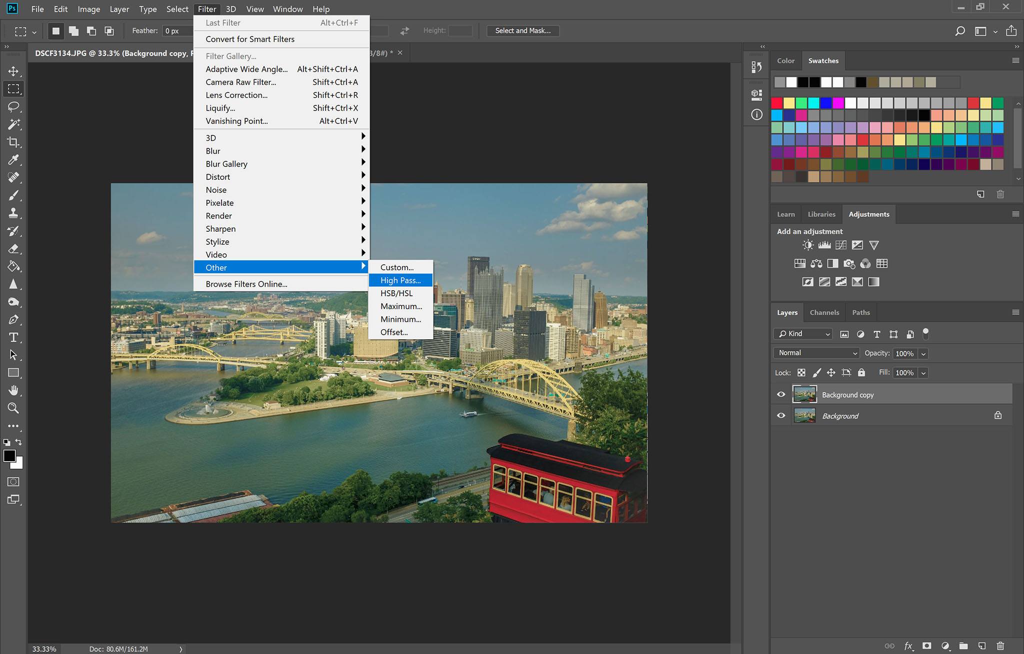 Using the High Pass Filter for Image Sharpening in Adobe