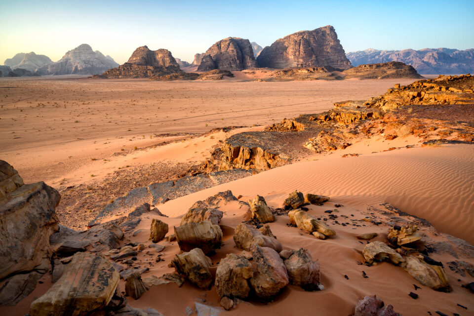 An image of a landscape in Wadi Rum, Jordan. Nikon Z7 Review.