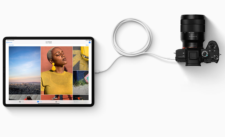 iPad Pro 2018 Connected to Sony Camera