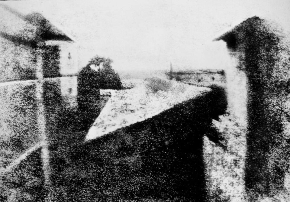 View from the Window at Le Gras, The First Photo Ever Taken, by Joseph Nicéphore Niépce