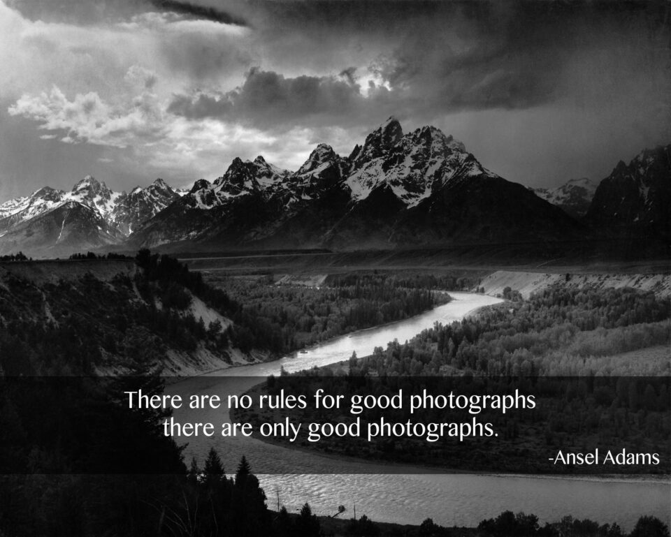 Ansel Adams No Rules for Good Photographs