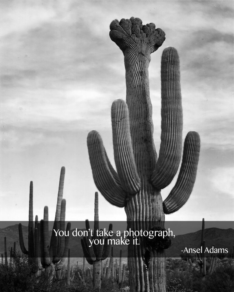 Ansel Adams Take vs Make