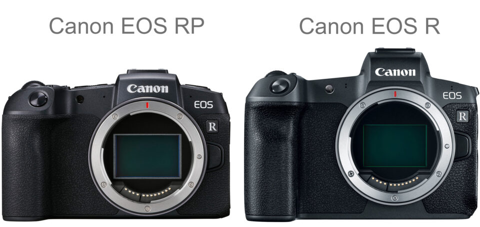 Canon EOS RP vs EOS R Size Comparison Body Only