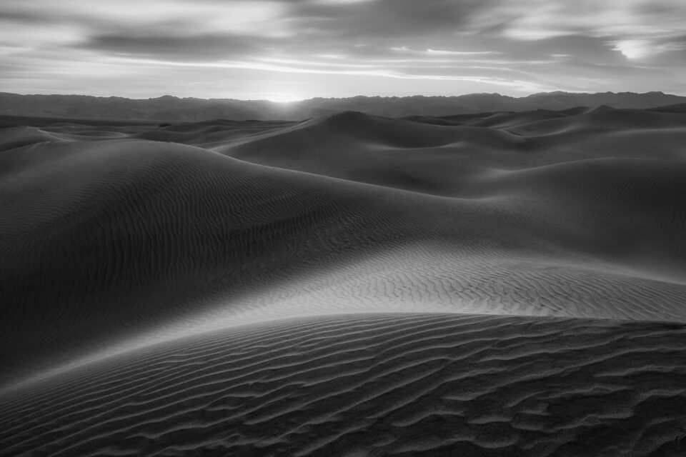 Sand Dunes in Black and White