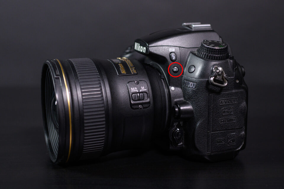 Bracketing Button on Nikon D7000