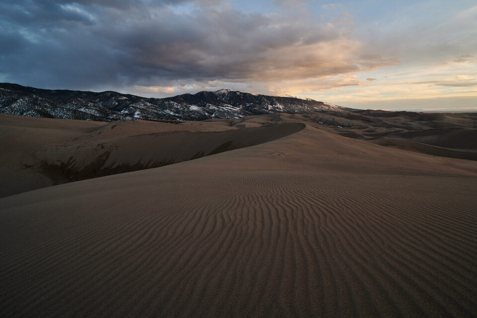 Sunset at 12mm in Great Sand Dunes National Park