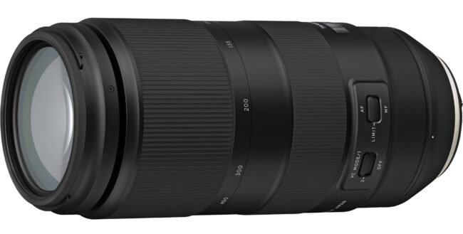 Tamron 100-400mm f4.5-6.3 Side View