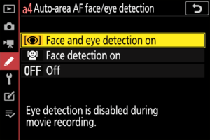 Nikon Z6 Z7 Face and Eye Detection