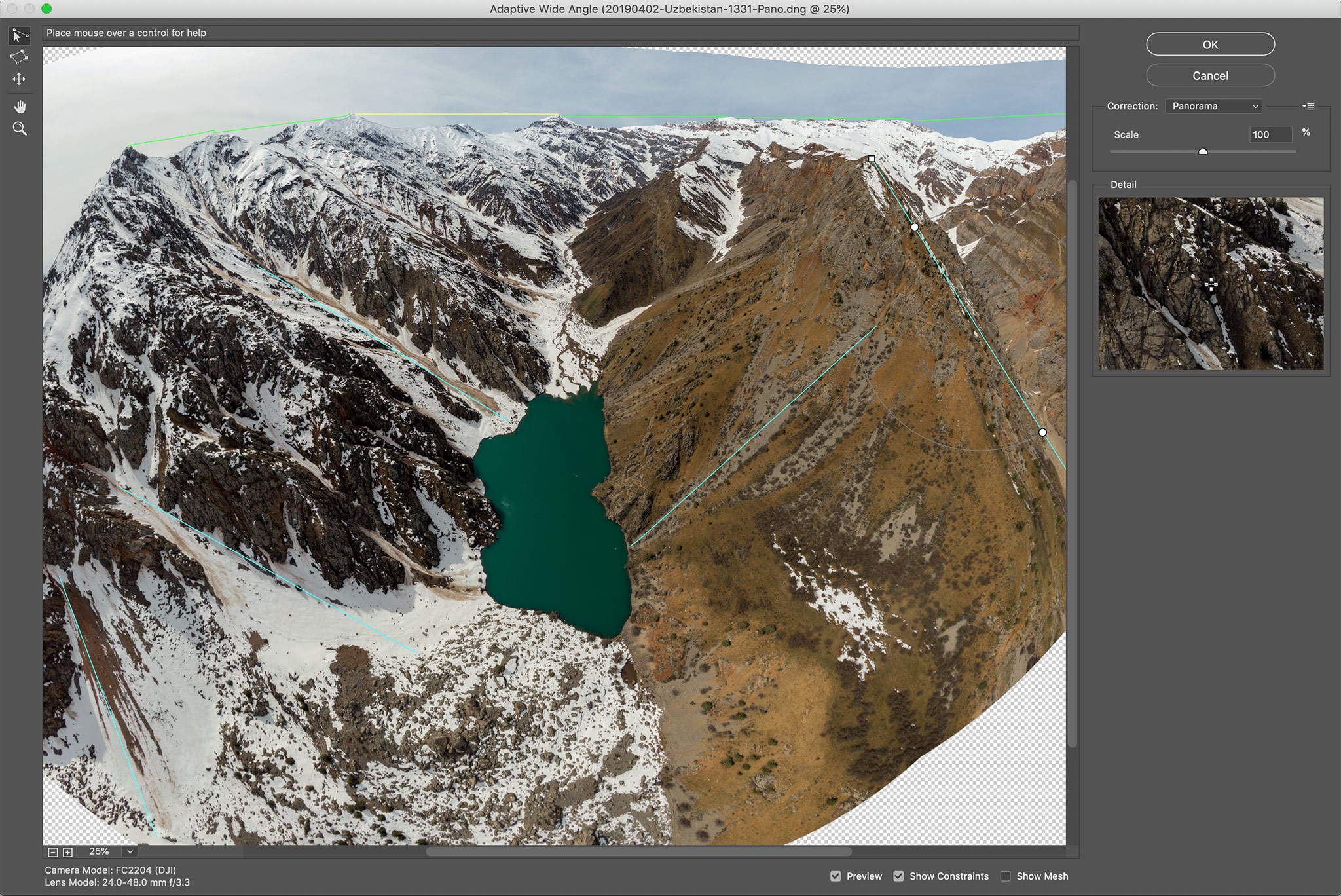 How to Shoot and Stitch Panoramas with a Drone