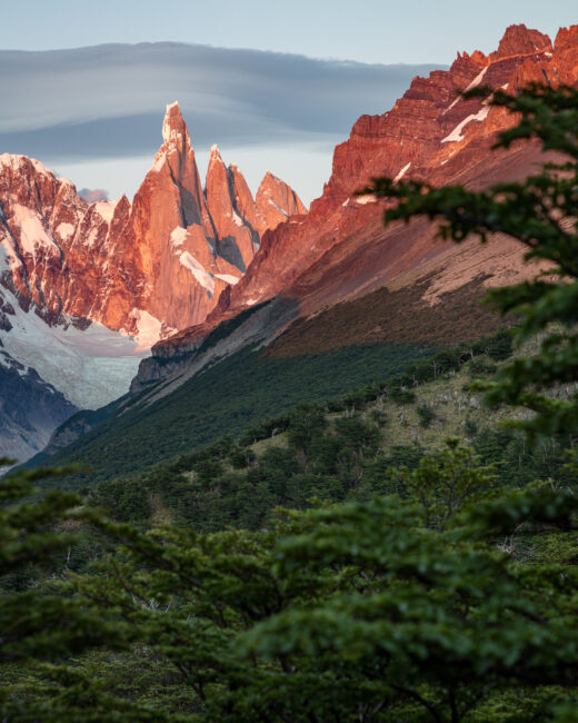 Sunrise at Cerro Torre in Patagonia