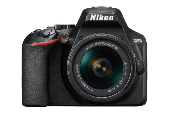 The Nikon D3500 is Nikon's current entry-level DSLR.