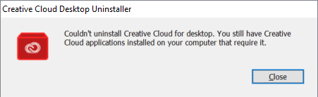 Adobe Creative Cloud Couldnt Uninstall