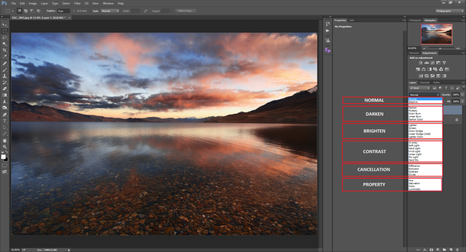 Blend Modes Segregation in Photoshop