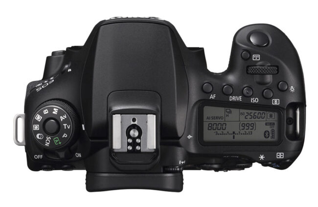 Canon 90D Top View