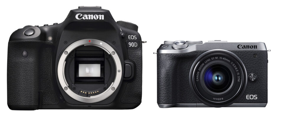 Canon 90D vs M6 Mark II to Scale