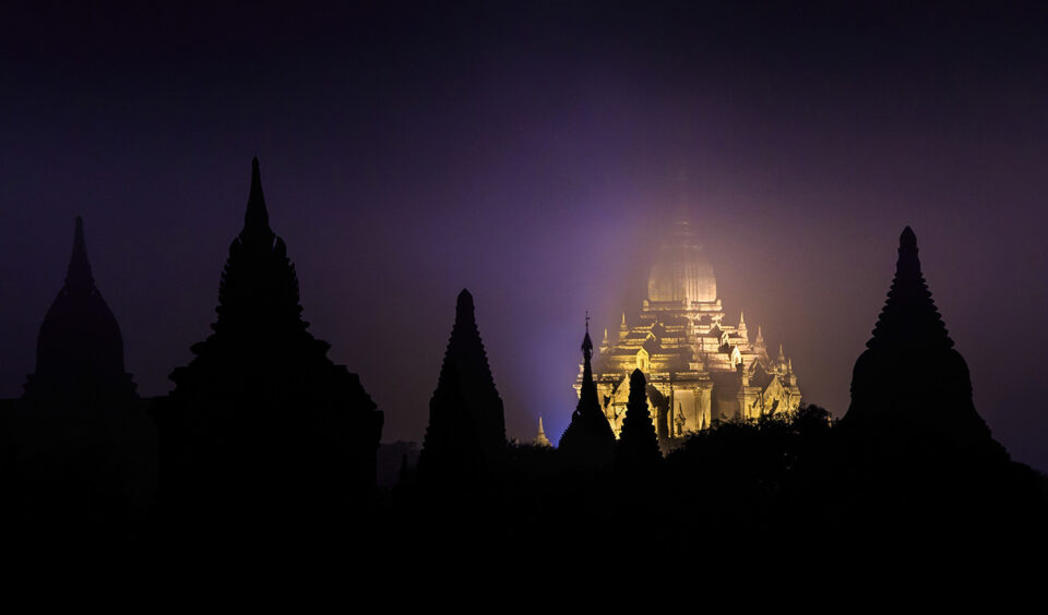 Foggy Night in the Ancient Kingdom – Ananda Pagoda