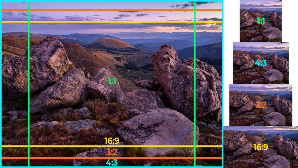 Common aspect ratios in photography