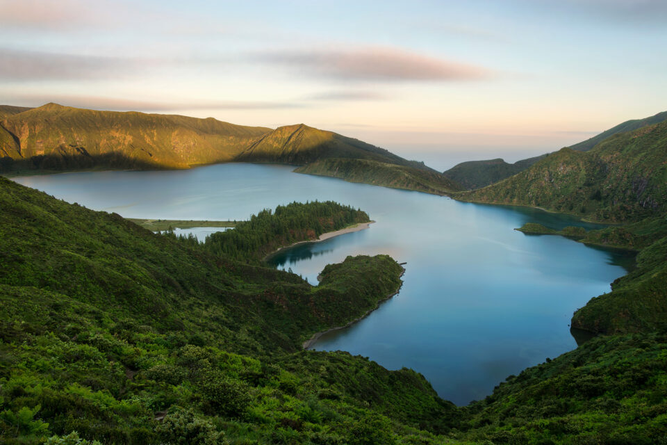 Lake overlook at São Miguel Island, Azores