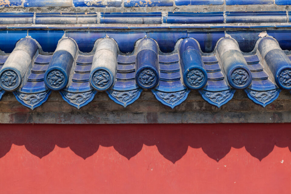 This photograph shows the colorful, intricate details at the Forbidden City in China. Taken with the Panasonic Lumix S1R.