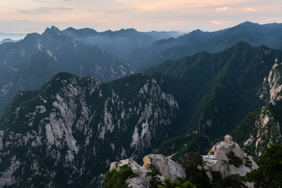 I took this photo from Huashan mountain. It includes the Chess Pavilion at the bottom right.