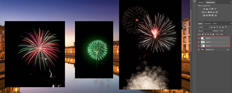Photoshop layers with fireworks