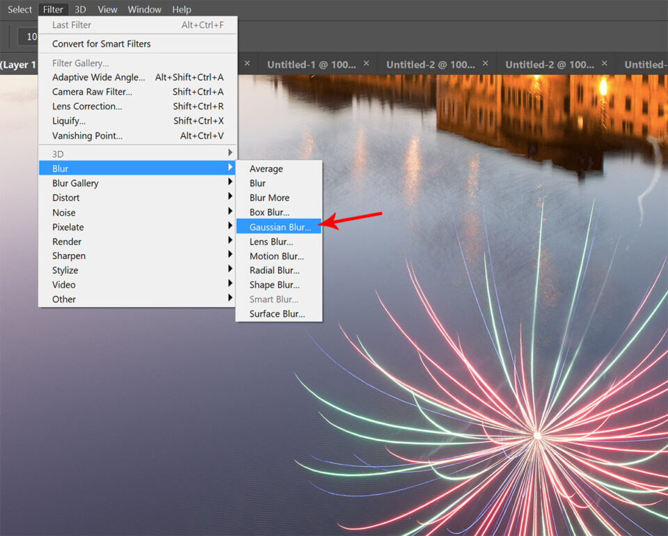 Gaussian blur in Photoshop