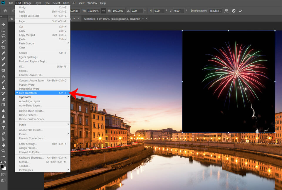 Firework layer in Photoshop